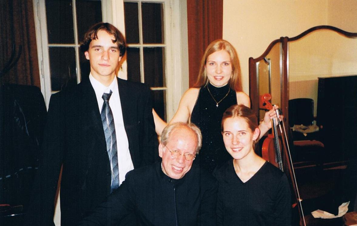 Monta mit ihrem Mentor dem international bekannten Geiger Gidon Kremer