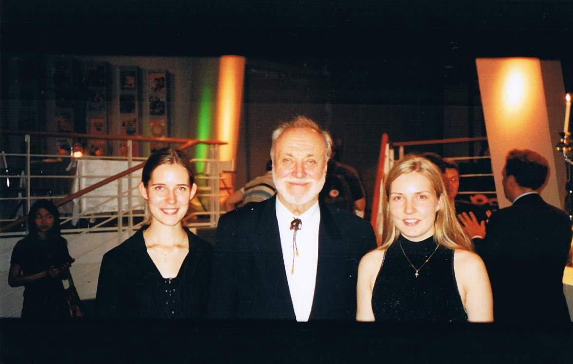 Monta mit dem weltbekannten Dirigenten Kurt Masur